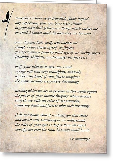 A Love Poem Greeting Card