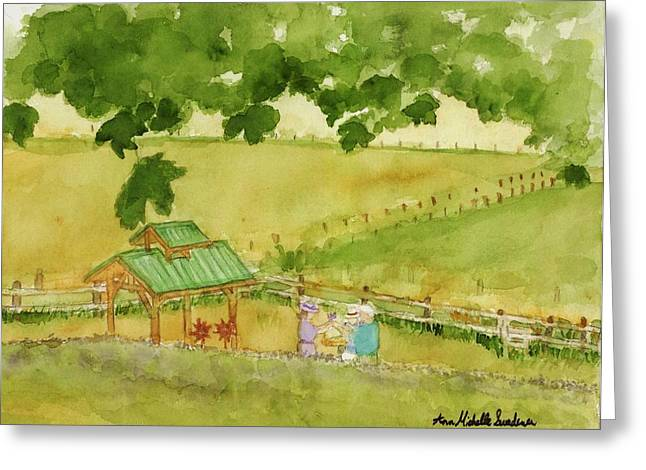 A Lovely Day At Lavender Hills Greeting Card by Ann Michelle Swadener