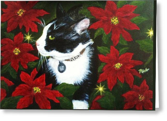 Tuxedo Cat Trouble  Greeting Card