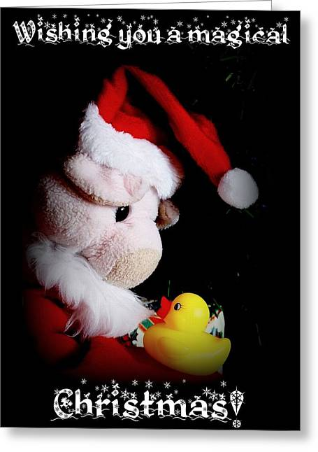 A Magical Christmas Greeting Card by Piggy