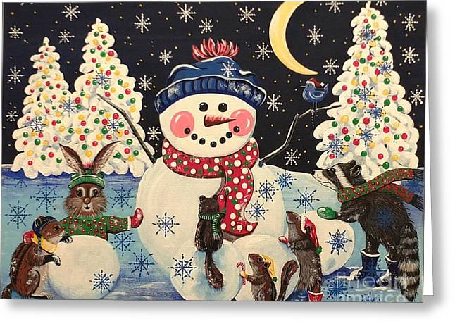 A Magical Night In The Snow Greeting Card