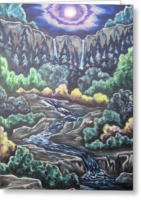 Greeting Card featuring the painting A Majestic World by Cheryl Pettigrew
