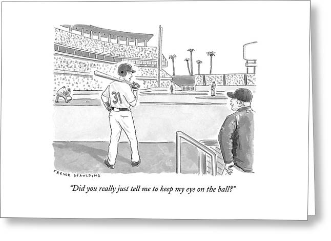 A Major League Baseball Player On Deck Greeting Card