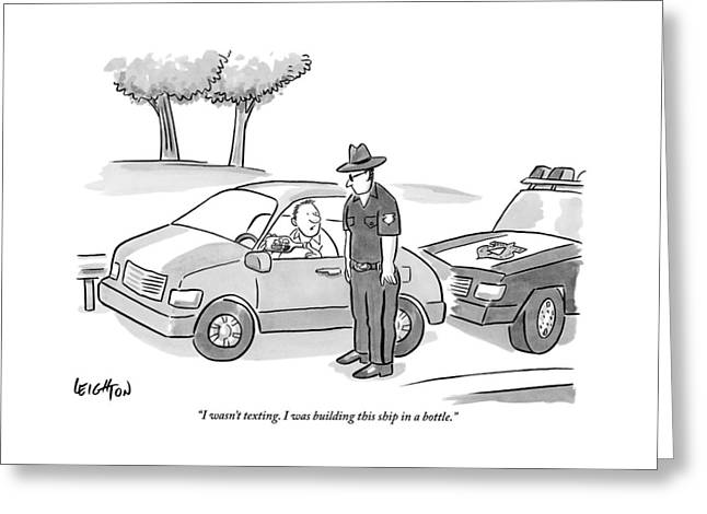 A Man Has Been Pulled Over And Explains What Greeting Card