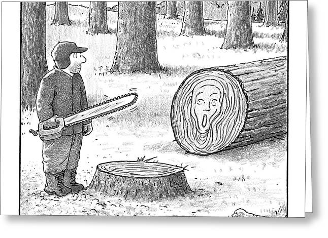 A Man Who Has Just Cut Down A Tree Sees That Greeting Card