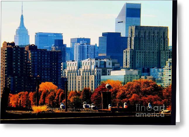 A Manhattan Autumn Greeting Card