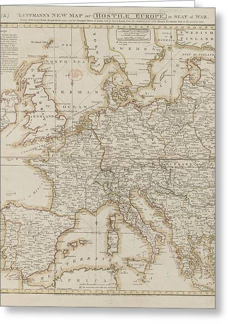 A Map Of Hostile Europe Greeting Card by British Library