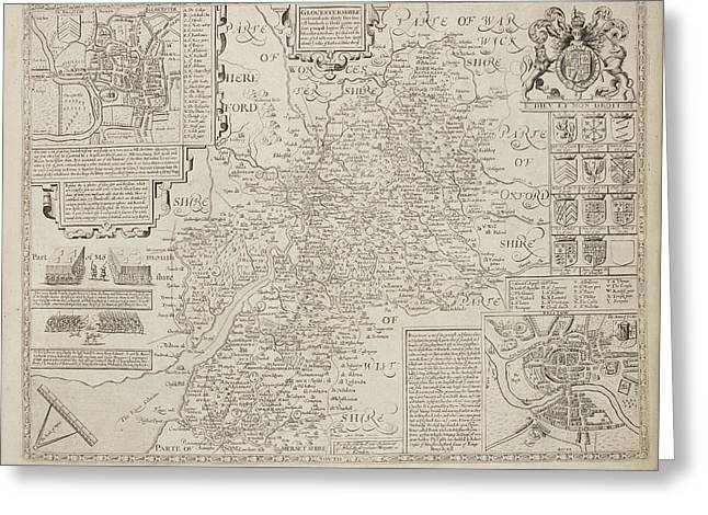 A Map Of The River Thames Greeting Card by British Library