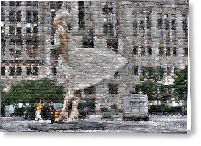 A Marilyn Mosaic Greeting Card by David Bearden