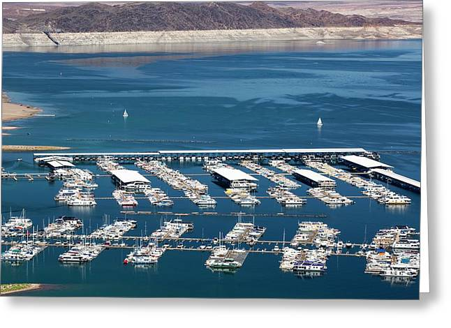 A Marina On Lake Mead Greeting Card