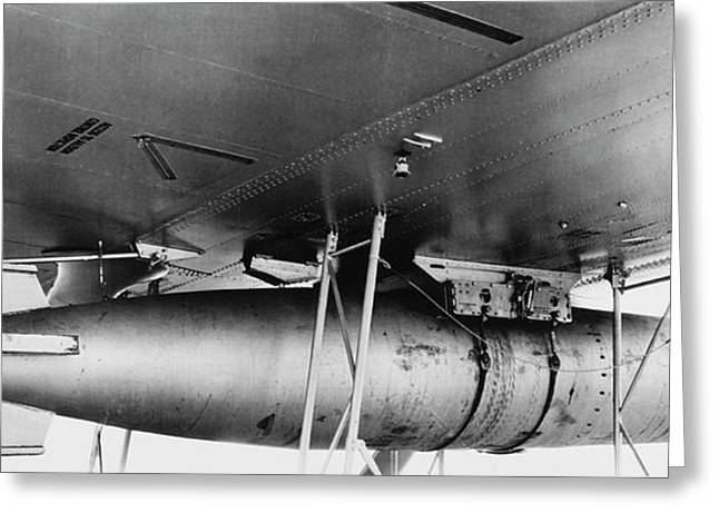 A Mark 13 Torpedo Installed Ona Pby-3 Greeting Card by Stocktrek Images