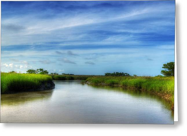 A Marsh At Jekyll Island Greeting Card