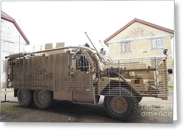 A Mastiff 6x6 Armored Patrol Vehicle Greeting Card