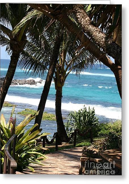A Maui Afternoon Greeting Card by Mary Lou Chmura