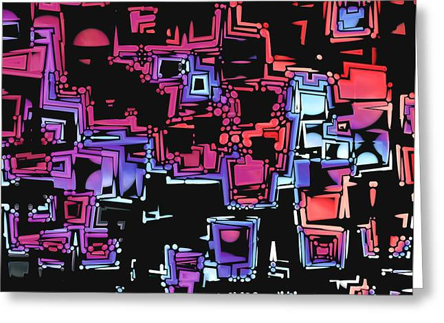 A Maze Zing - 03c07 Greeting Card by Variance Collections