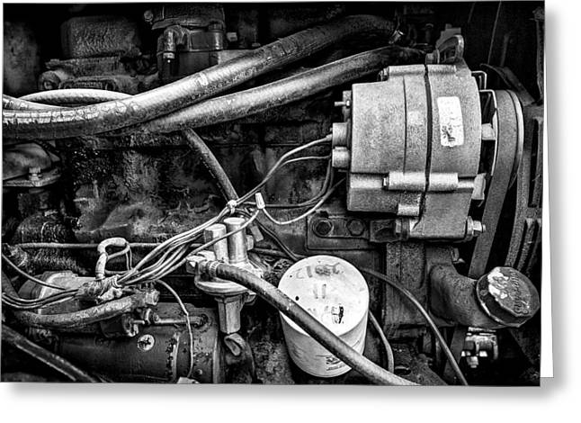 A Mechanic's View Greeting Card by Jeff Burton