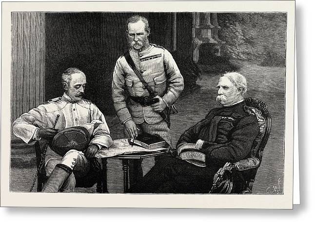 A Meeting Of The Commanders-in-chief Of The Army In India Greeting Card by Indian School