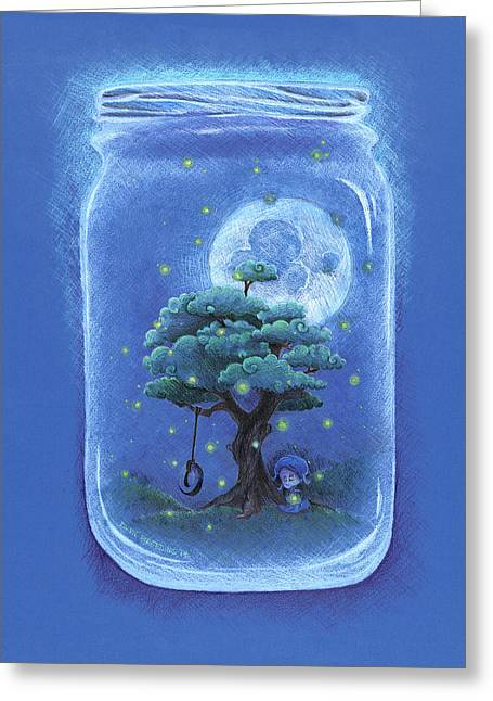 A Memory Jar Greeting Card by David Breeding