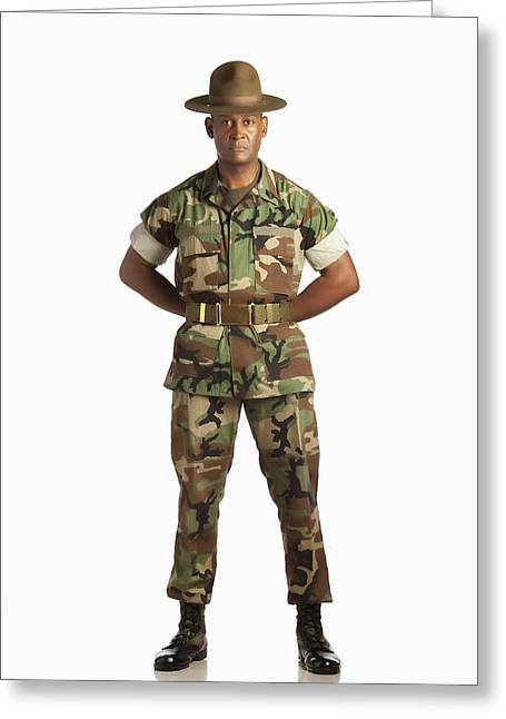 A Military Man Greeting Card by Ron Nickel