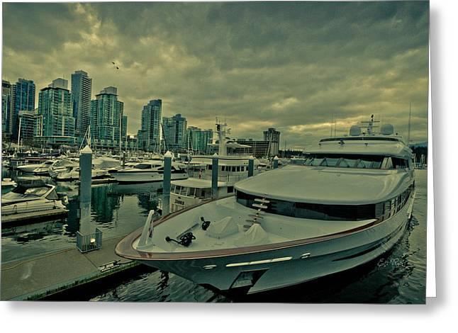 A Million Dollar Ride Yacht  Greeting Card by Eti Reid