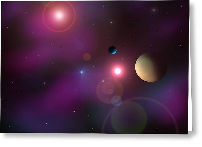 A Million Light Years Greeting Card by Ricky Haug