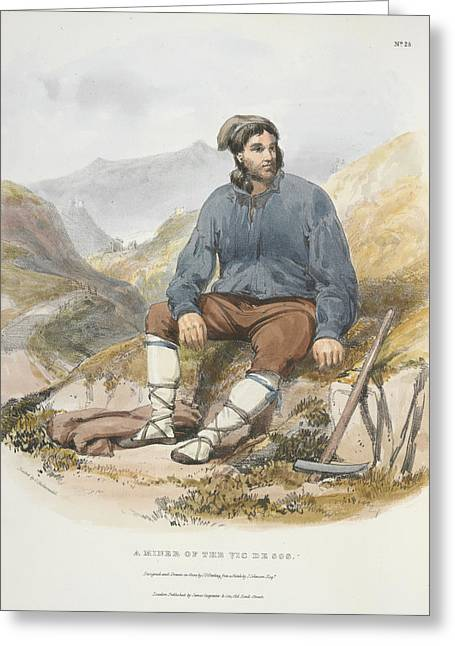 A Miner Greeting Card by British Library