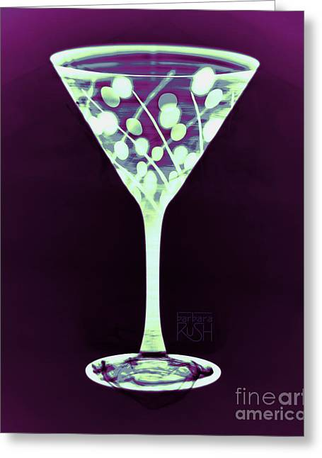 A Mint Martini On Plum Greeting Card