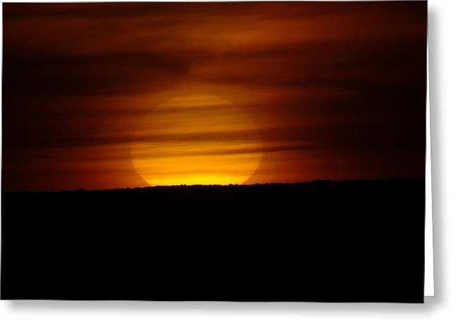 A Misted Sunset Greeting Card by Jeff Swan