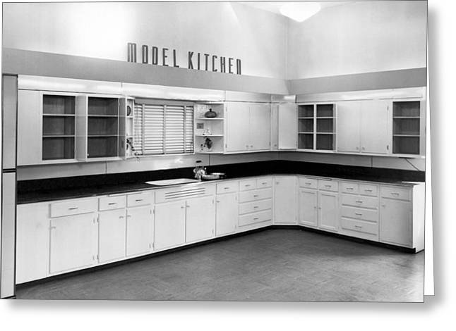 A Model Kitchen Greeting Card by Underwood Archives