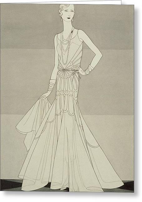 A Model Wearing Chanel Greeting Card by Douglas Pollard