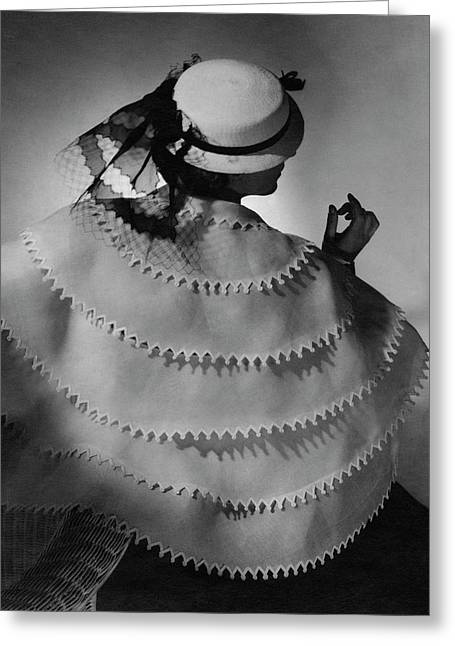 A Model Wearing Lanvin Greeting Card by Horst P. Horst