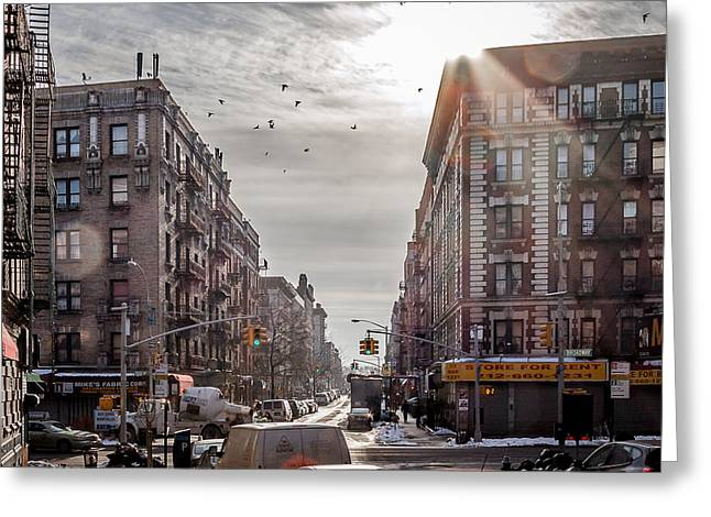 A Moment In Manhattan  Greeting Card by Anthony Fields