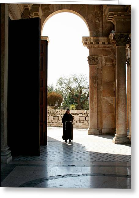 A Monk In Israel Greeting Card