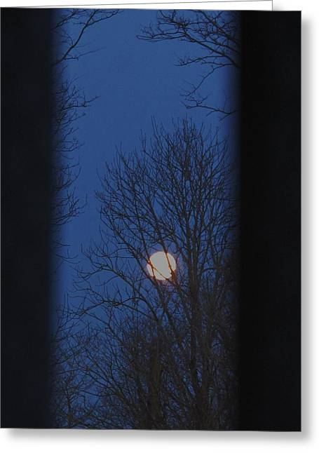 A Moon In A Blue Morning Greeting Card