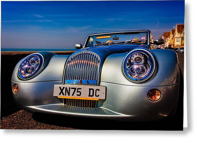 A Morgan By The Sea Greeting Card by Chris Lord