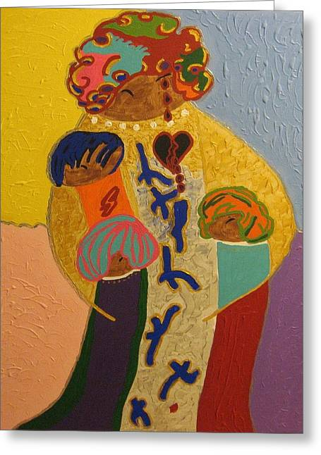 A Mother's Love Greeting Card by Clarissa Burton
