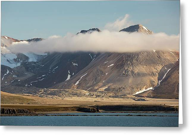 A Mountain Peak On Svalbard Greeting Card