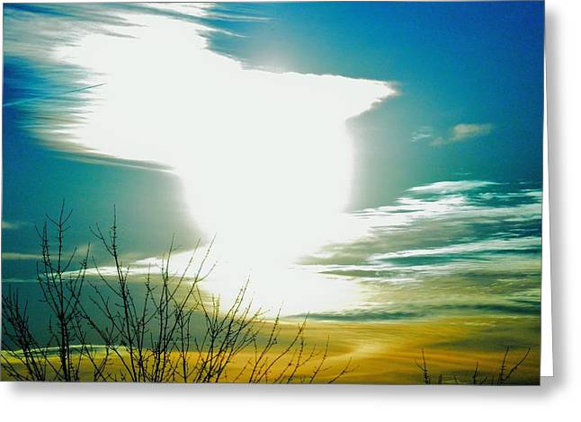 A Myriad Twilight Greeting Card by Luke Jones