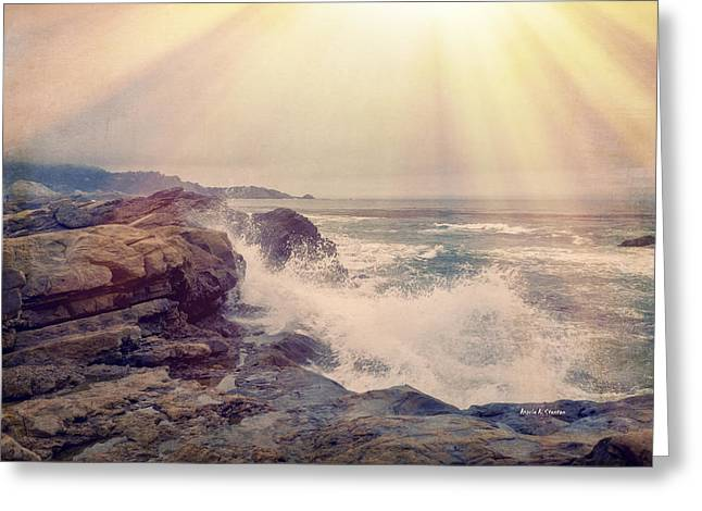 A Mysterious Morning - Point Lobos Greeting Card by Angela A Stanton