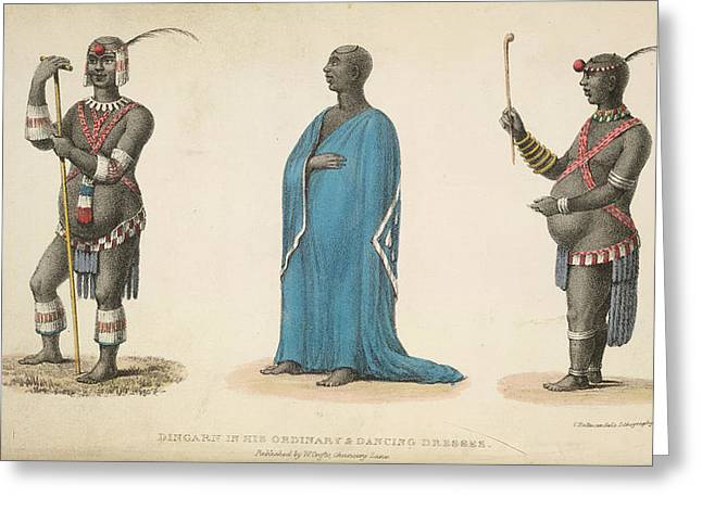 A Native In Costume Greeting Card