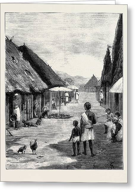 A Native Village On The Way From Tamatave To Antananarivo Greeting Card by English School