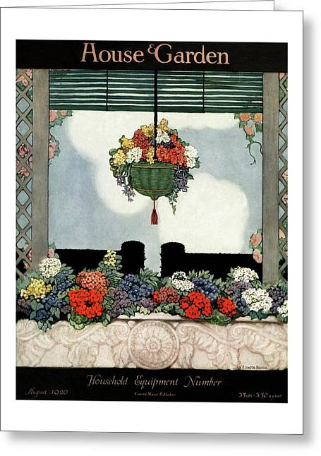 A Neo-classical Marble Window Sill Greeting Card