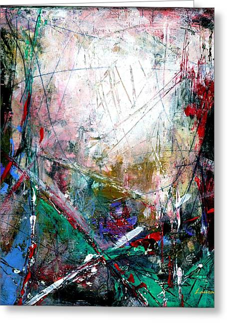A New Day - Abstract Art By Laura Gomez - Square Format Greeting Card by Laura  Gomez
