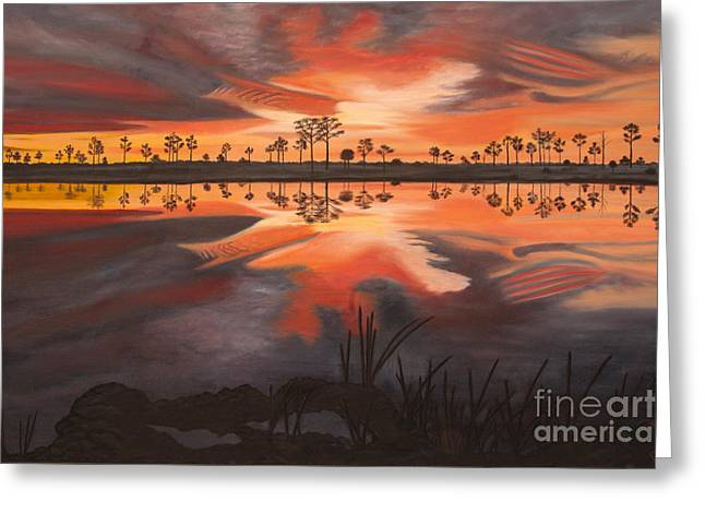 A New Day Dawning Greeting Card by Jane Axman