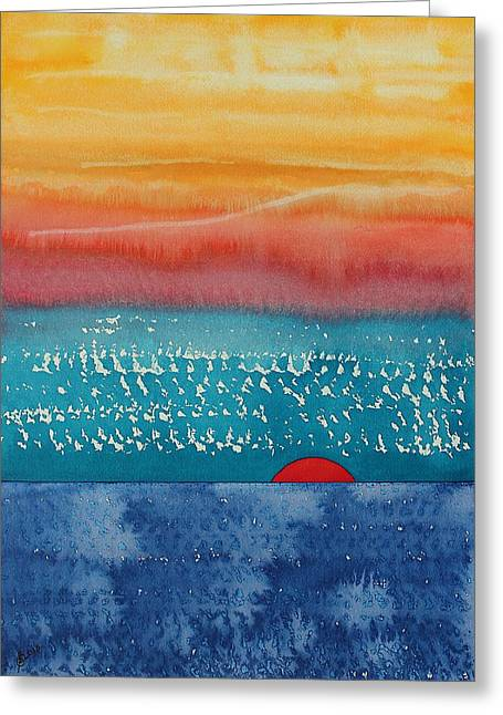 A New Day Dawns Original Painting Greeting Card by Sol Luckman