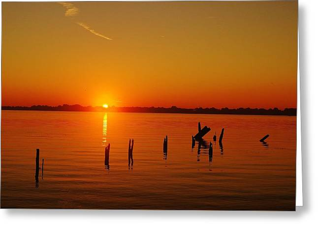 A New Day Dawns... Over Dock Remains Greeting Card