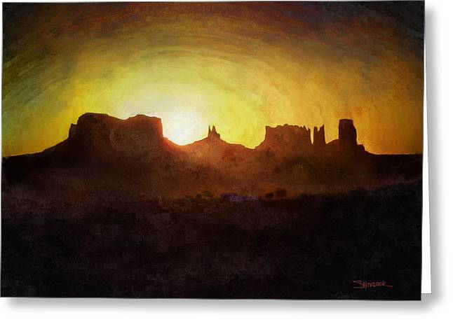 A New Day - Monument Valley Greeting Card