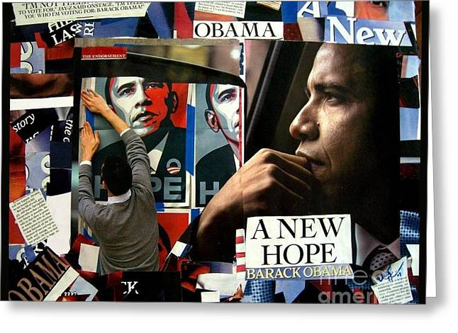 Barack Obama A New Hope Greeting Card by Isis Kenney