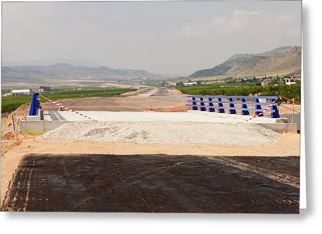 A New Road Being Constructed Greeting Card