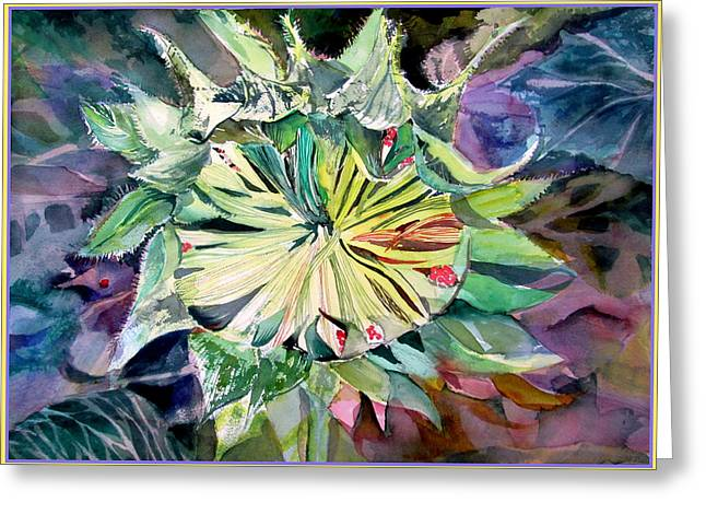 A New Sun Flower Greeting Card by Mindy Newman